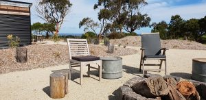 Firepit at The Inverloch Glamping Co